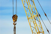 Mobile tower crane — Stock Photo