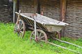 Vintage wooden cart — Stock Photo