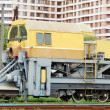 Snow removal train locomotive — Stock Photo