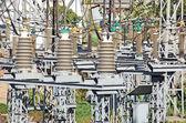 Umspannwerk hohe wechselspannung — Stockfoto