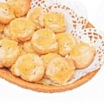 Small cheese rolled brioche bun — Stock Photo