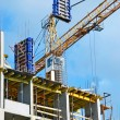 Сoncrete formwork under crane — Stock Photo