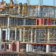 Construction site detail with scaffolding - Foto Stock