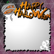 Vector halloween card / letter paper - Stock Vector