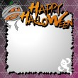 Stock Vector: Vector halloween card / letter paper