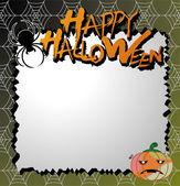 Vector halloween card / letter paper — Stock Vector