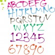Vector de stock : Colorful Round pen font