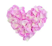 Heart with pink petals — Stock Photo