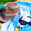 Hat and sunglasses — Stock Photo