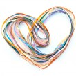 Stock Photo: Heart of color ribbons