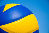 Volleyball ball over the blue sky — Stock Photo