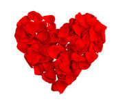 Red heart of petals — Stock Photo