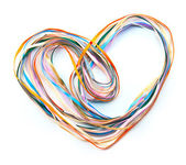 Heart of color ribbons — Stock Photo