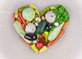 Cuore vegetale — Foto Stock