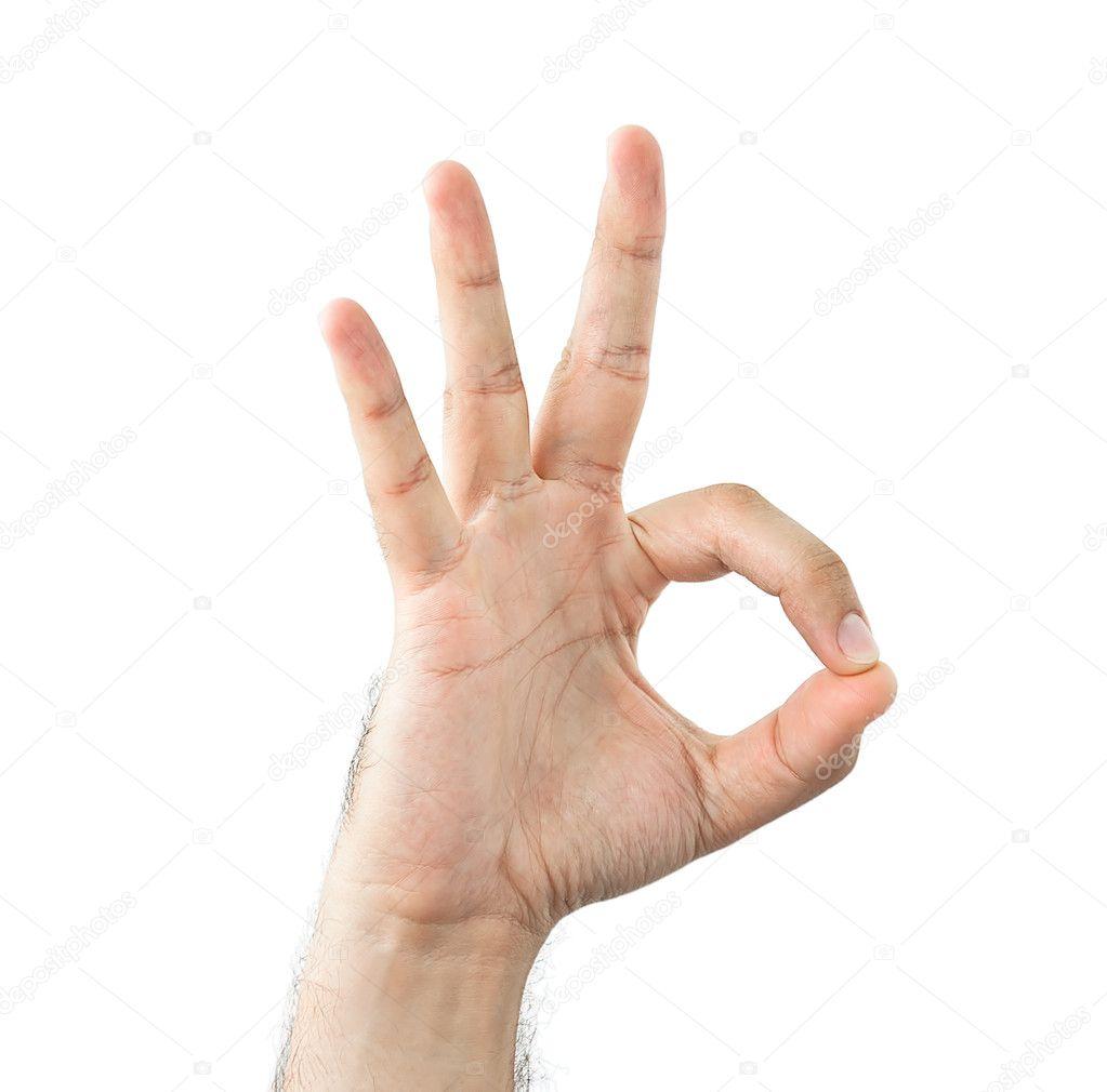 Gesto de la mano, mostrando una autorización — Foto de