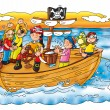 Pirates on the ship — Stock Photo #5829104