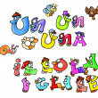 Stock Photo: Animated letters,