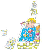 Girl in bathtub, — Stock Photo