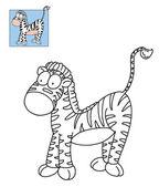 Zebra striped — Stock Photo