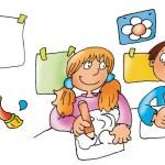 Children draw, — Stock Photo #5884536