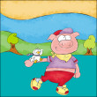 Stock Photo: Piglet pink