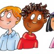 Childrens ethnic nationalities, — Stock Photo