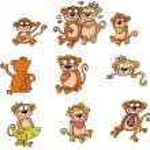 Monkey, love, — Stock Photo
