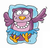 Singer owl, hat, — Stock Photo