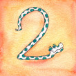 Stock Photo: 2Snake,snake numbers, counting