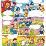 Cartoon family — Stock Photo