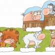 Stock Photo: Farm animals,