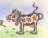 Koe, grazen, — Stockfoto