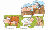 Farm animals, — Foto de Stock