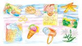 Cartoline,vacanze,auguri — Stock Photo