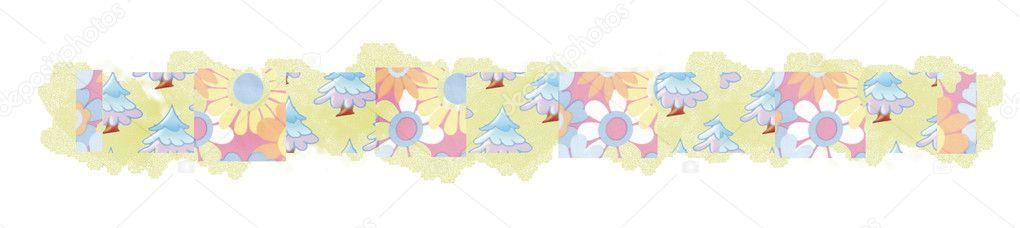 bordi floreali - Immagine Stock