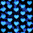 Blue hearts abstract — ストック写真