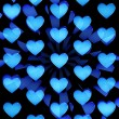 Blue hearts abstract — Stock fotografie
