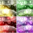 Four bubbly backgrounds — Foto Stock