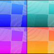 Four grid backgrounds — Stock Photo #5862551