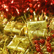 Golden and red — Stock Photo