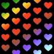 Rainbow hearts background — Stock Photo