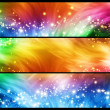 Sparkly banners — Stock Photo