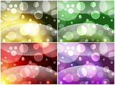 Four bubbly backgrounds — Stock Photo