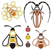Insects-icons — Stock Vector
