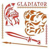 Gladiator-icon — Stock Vector