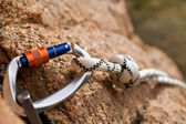 Rockclimbing Gear — Stock Photo