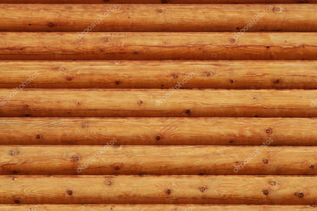Wooden background - part of log cabin — Stock Photo #5853531