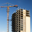 Construction new high-rise building — Stock Photo #5890724