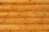 Rustic Pine Log Cabin Wall — Stock Photo