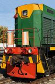 The diesel locomotive — Stock Photo